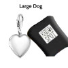 Pet Pet EMf Protection BioElectic Shield  Silver Heart for for large dogs over 15 pounds
