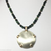 Deep Healing green tiger eye in gold with  Level 3 Silver/Gold Satin BioElectric Shield
