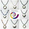 Collage of beaded chains by Gemstone Alchemy