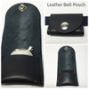 Leather belt pouch to wear with EMF Blocker Pendant