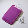 SYB Vertical Pouch for Cell phone EMF Protection Purple with white headset YB is the maker of the ORIGINAL EMF Phone Pouch. Don't trust lower quality competitor knock-offs.  The SYB Phone Pouch is a simple and affordable way to carry your cell phone and reduce your exposure to harmful wireless radiation.  Deflects up to 99% of wireless EMF radiation from your cell phone away from your body.