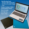 SYB laptop pad provides shielding -Multi-layer construction, protective vinyl casing, high reistance alloy, Ferromagnetic steel plate gives  RF shielding from Wifi and bluetooth, ELF from AC power charger, heat
