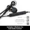 SYB Airtube headset - EMF, WIFI, 5G, 4G, 3G Protection EMF protection 3 button volume controls, full audio control