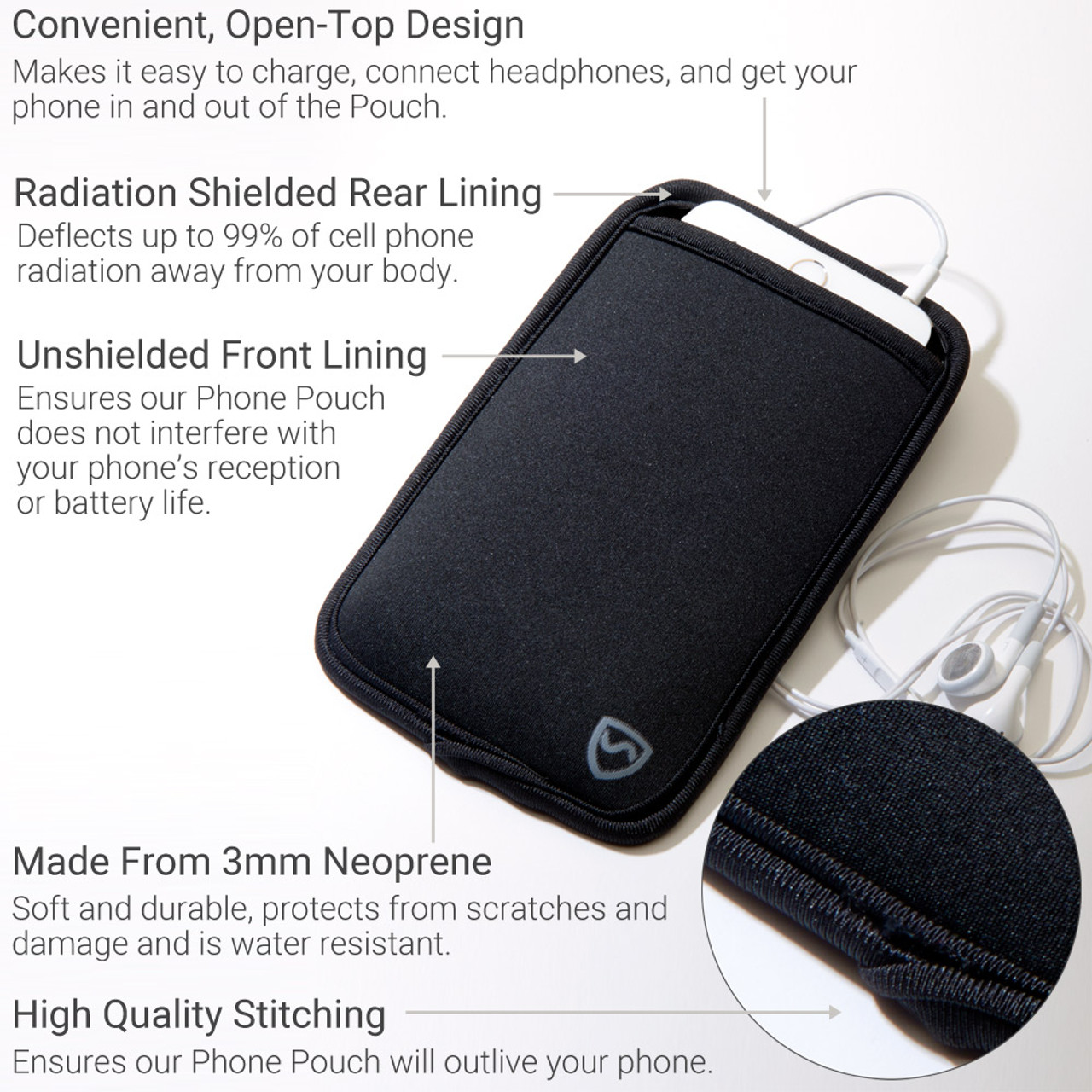 SYB - Pouch and/or Earbuds for Cellphone 5G/EMF radiation protection