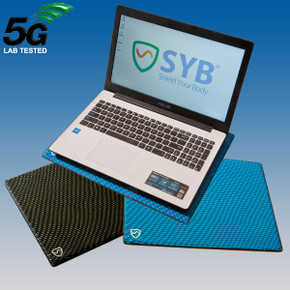 SYB laptop pad provides shielding - RF shielding from Wifi and bluetooth, ELF from AC power charger, heat