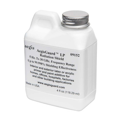 5Hz to 30GHz - The AegisGuard™ is safe and patented radiation shielding additive for interior and exterior water-based latex and latex acrylic primers. EMF Blocker Paint, EMF protection from smart meters, smart meter protection, electromagnetic radiation shielding