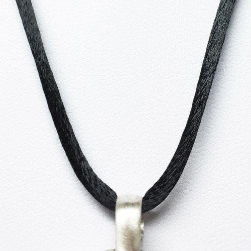 Satin cord on Shield to Wear with EMF Blocking Pendant Bioelectric Shield