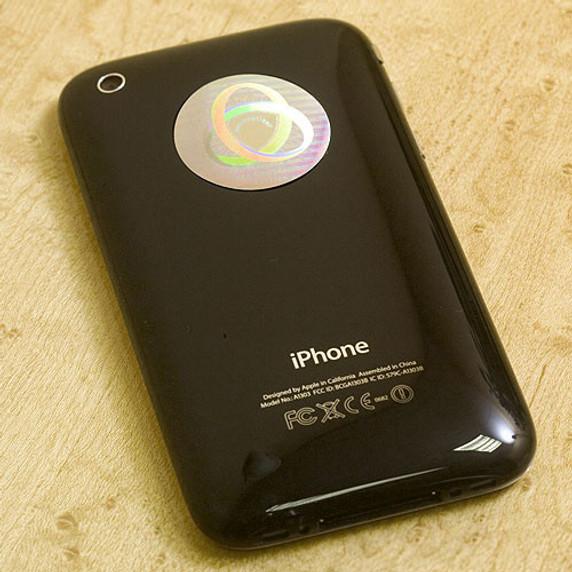 Aulterra Neutralizer™  disk on cellphone