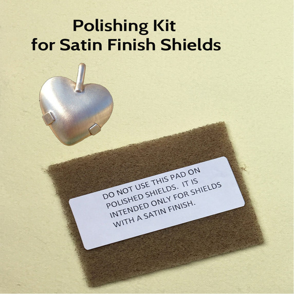 Sunshine Cloth is the best polishing cloth for jewelry according to one of the biggest jewelry distributor  in the world. We have used it for 27 years... The kit comes with buff pad for satin finish shields