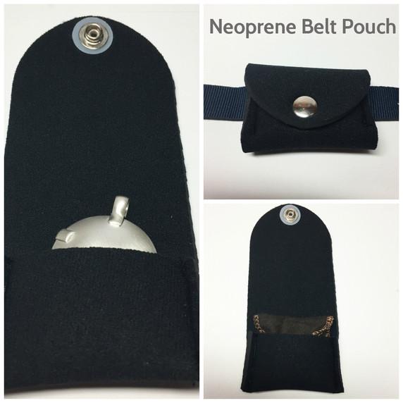 Neoprene belt pouch to wear with EMF Blocker Pendant