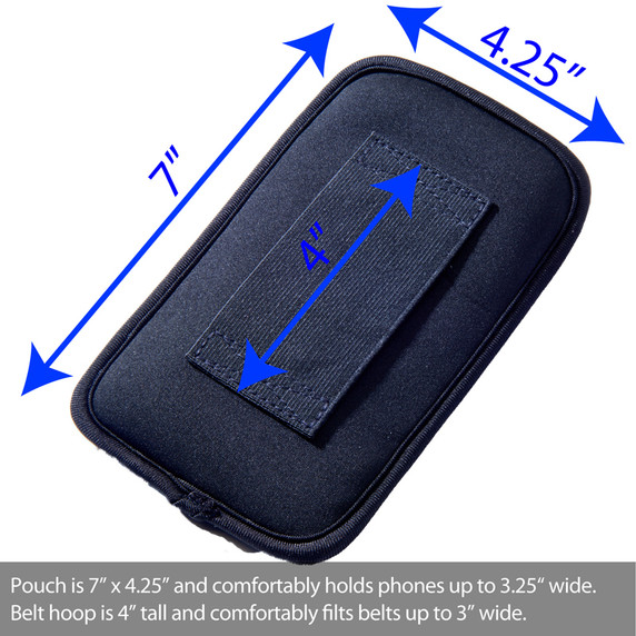 SYB Vertical Pouch for Cell phone EMF Protection - shown x Large