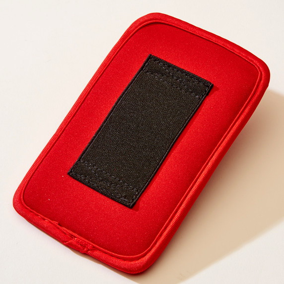 SYB Vertical Pouch for Cell phone EMF Protection Red Pouch Back YB is the maker of the ORIGINAL EMF Phone Pouch. Don't trust lower quality competitor knock-offs.  The SYB Phone Pouch is a simple and affordable way to carry your cell phone and reduce your exposure to harmful wireless radiation.  Deflects up to 99% of wireless EMF radiation from your cell phone away from your body.