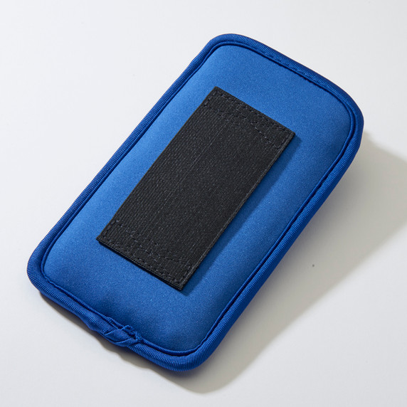 SYB Vertical Pouch for Cell phone EMF Protection Blue Pouch Back YB is the maker of the ORIGINAL EMF Phone Pouch. Don't trust lower quality competitor knock-offs.  The SYB Phone Pouch is a simple and affordable way to carry your cell phone and reduce your exposure to harmful wireless radiation.  Deflects up to 99% of wireless EMF radiation from your cell phone away from your body.