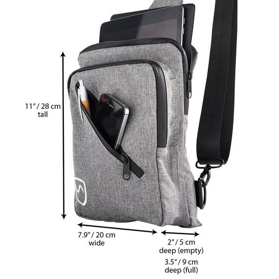SYB sling bag measurements