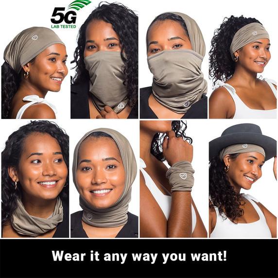 SYB - EMF - 5G Protection Neck Gaiter - many ways to wear it