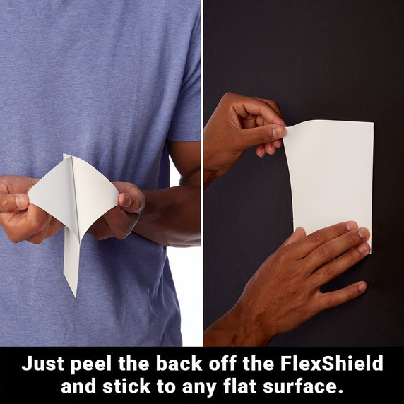SYB Flex Shields are designed to be easily applied to any flat surface (such as your baby's crib, or the wall behind your smart meter) to deflect and shield you from this type of harmful EMF radiation.   SYB Flex Shields are great for many uses and are easy to apply to most any surface. Combine multiple Flex Shields, or cut a single Flex Shield to a specific size and shape that you want.