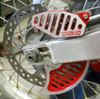 Topar Racing Rear Brake Rotor Disc Guard Fin for HONDA 1999-2001 CR125, CR250 and 2000-2006 XR650R (MOUNTS TO OEM BRACKET)) SHOWN WITH 130-108-HCR BRAKE CALIPER GUARD