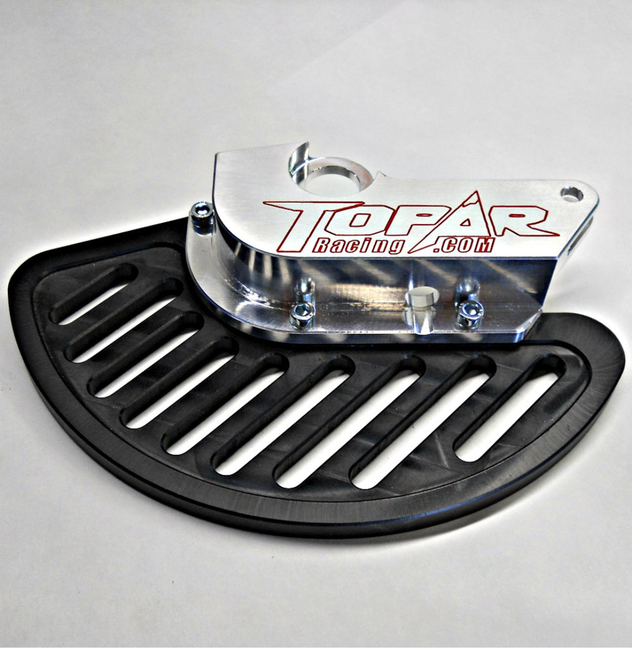 Topar Racing Front Brake Rotor Disc Guard for 2010-2018 BETA - All Enduro, 2T, 4T, RR, RR-S and RS  with UHMW  FIN (SHOWN WITHOUT CALIPER GUARD)