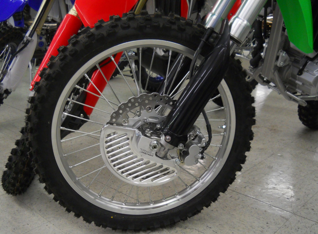 Topar Racing  Front Brake Rotor Disc Guard for 2009-2021 KAWASAKI KLX250 and KLX300  Shown here with Aluminum Fin