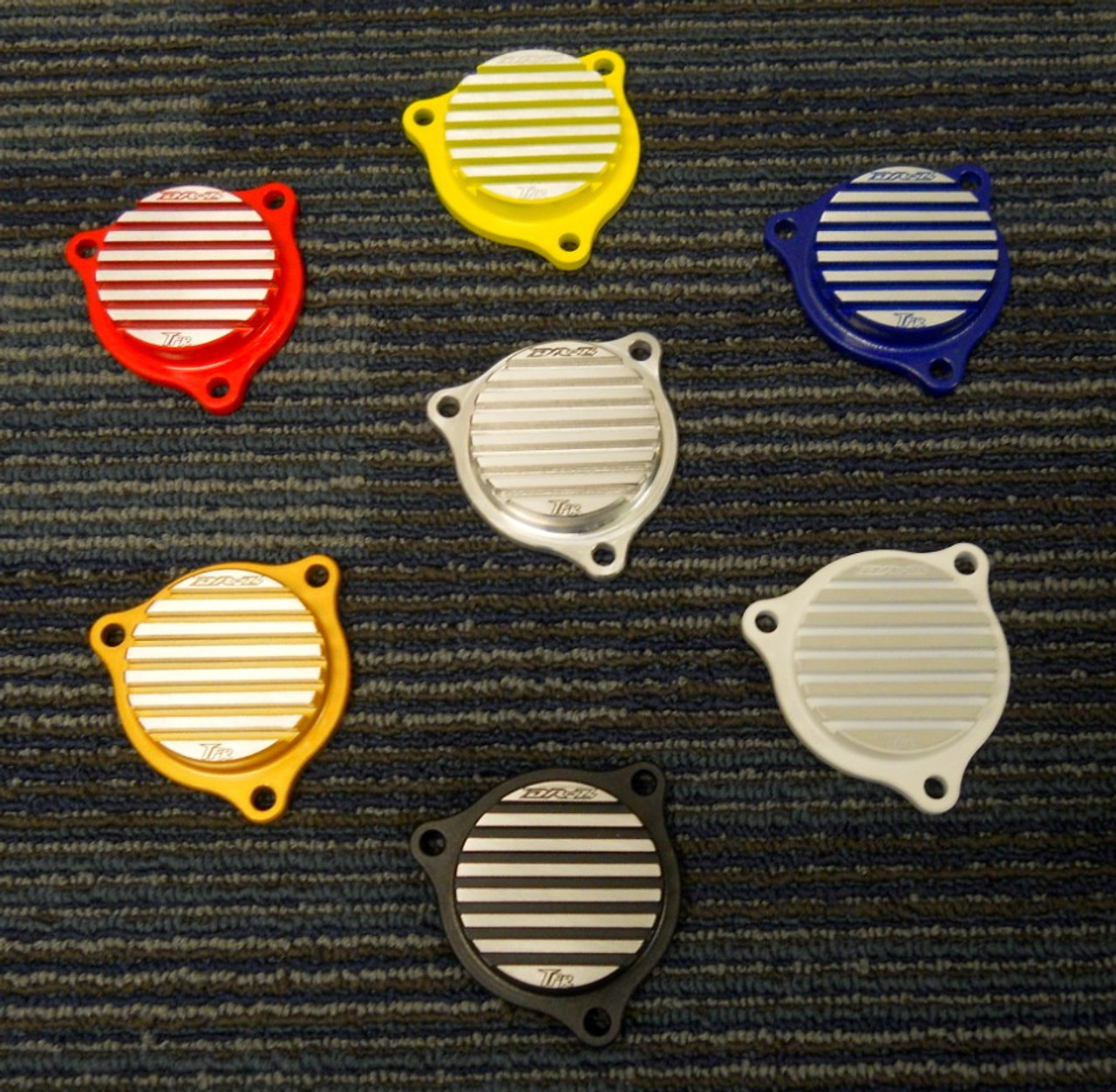 Finned Oil Filter Cap for DRZ400 (ALL Years and Models) - Billet Aluminum US Made by Topar Racing - Provides additional cooling - Available Colors