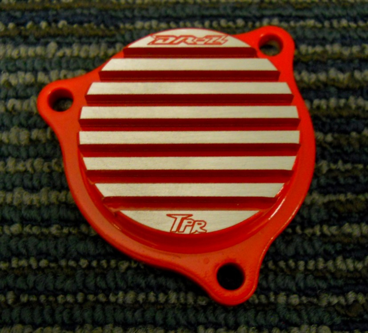 Finned Oil Filter Cap for DRZ400 (ALL Years and Models) - Billet Aluminum US Made by Topar Racing - Provides additional cooling