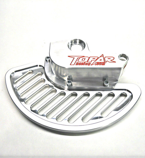 Topar Racing Front Brake Rotor Disc Guard for 2000-2002 KTM ALL MODELS 125cc to 525cc  shown with Aluminum Fin and no caliper guard
