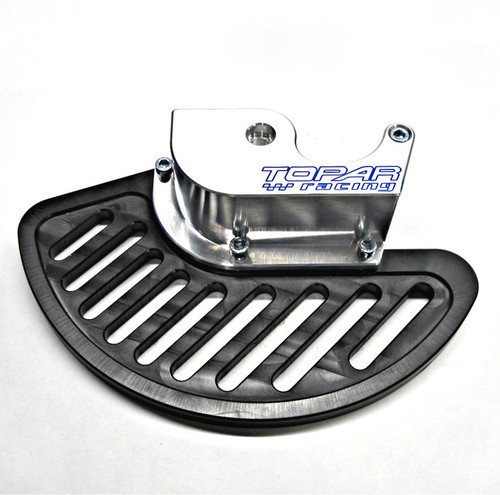 Topar Racing Front Brake Rotor Disc Guard for YAMAHA  1999-2004 YZ125,YZ 250  1998-2004 YZ250F,  WR250F, WR400F, WR426F, WR450F (SHOWN WITH UHMW PLASTIC FIN)
