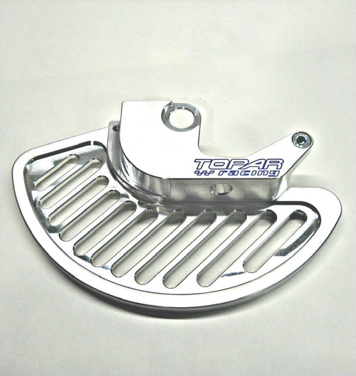Topar Racing Front Brake Rotor Disc Guard for 2007-2020 YAMAHA YZ125, YZ250;  YZ250F, YZ450F   2016-2020 YAMAHA WR250F, WR450F (SHOWN WITH ALUMINUM FIN)
