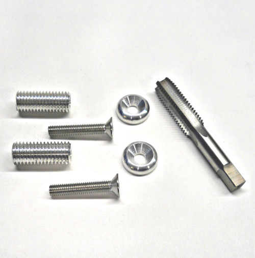 Billet aluminum Handlebar End Threaded Inserts (With a  tap included for installation)