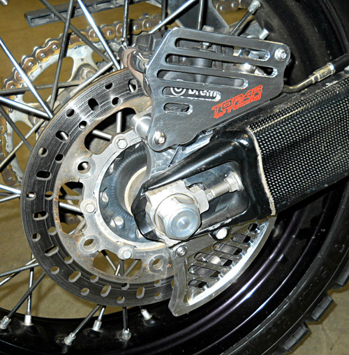 Topar Racing Rear Brake Rotor Disc Guard Kit for 2009-2012 KTM 950 AND 990 ADVENTURE (Shown on the bike with the Optional Caliper Guard)