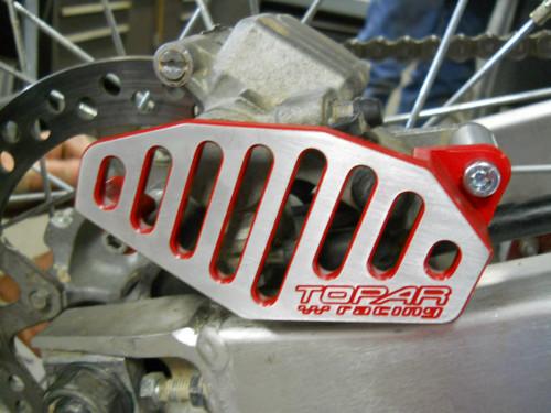Topar Racing Rear Brake Caliper Guard for  2000-2007 XR650R (MOUNTS TO OEM BRACKET)