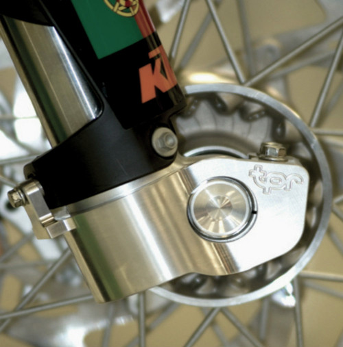 Topar Racing  Fork Leg Guard for 2014-2015 HUSQVARNA (SEE complete application list below) -  Mounted on Bike