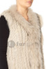 Short White Coney and Fox Fur Gilet (with tassels) FF48A-02