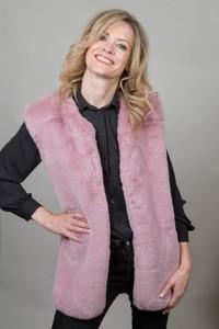 Faux Fur Gilet in Blush NL5139-06