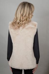 Faux Fur Gilet in Stone NL5139-12