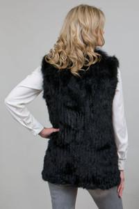 Black Rabbit and Fox Fur Gilet