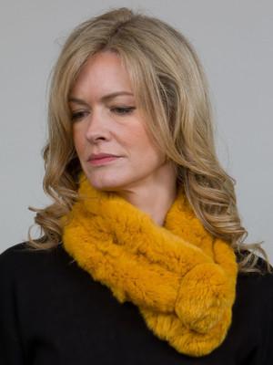 Mustard Yellow Bellringer Fur Scarf