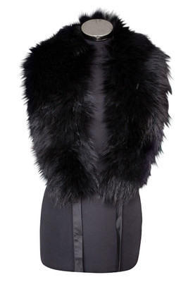 Large Black Fox Fur Collar LFC-01 (LFC-01)