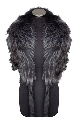 Dark Grey Fox Fur Collar