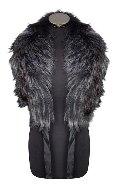 Dark Grey Fox Fur Collar