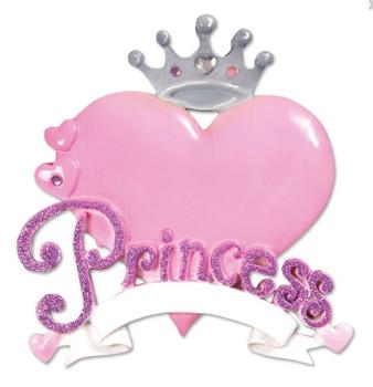 PRINCESS HEART ORN - OR610