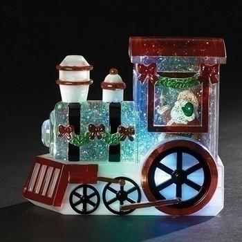 LED TRICOLOR TRAIN W/SANTA-30213