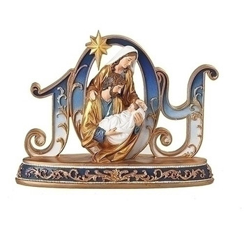 JOY HOLY FAMILY BLUE AND GOLD-633333