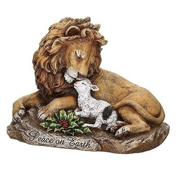 LION AND LAMB ON ROCK-633378