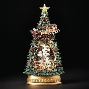 LED SWIRL VILLAGE TREE - 134882