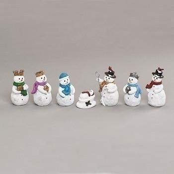 7 PIECE SET SNOWMAN NATIVITY-134046