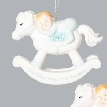 ROCKING HORSE BOY ORN-130312