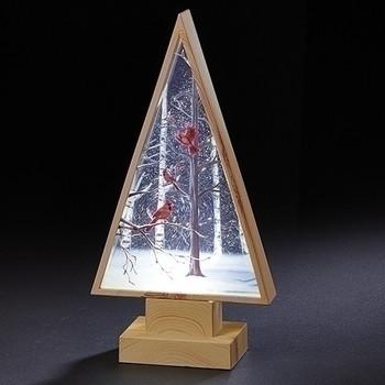 LED SWIRL TREE, CARDINAL-133369