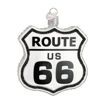 Historic Route Sign by Old World Christmas 36136