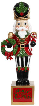 CLASSIC NUTCRACKER W/WREATH - 29-03372-RED